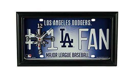 Good Tymes Enterprises, Inc. MLB Los Angeles Dodgers Number 1 Fan License Plate Mantel or Wall Clock ()