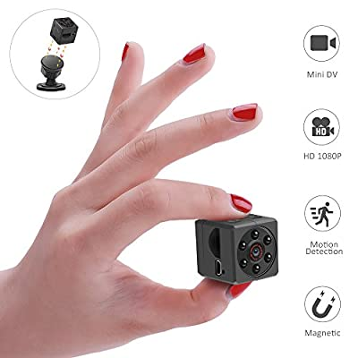 WIRKE Mini Hidden Spy Magnetic Camera,1080P HD Portable Video & Photo Recorder Security camera with Night Vision/Motion Detection/Recording USB Camera for Office,Home & Car(Support 32GB Micro SD Card? by WIRKE