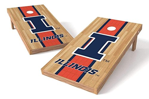 PROLINE NCAA College 2' x 4' Illinois Fighting Illini Cornhole Board Set - Court - Illinois Fighting Illini Bean Bag