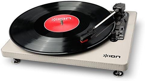 ION Audio Compact LP Cream - Tocadiscos de 3 velocidades con conversión digital USB