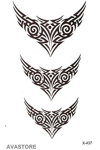 Tatuajes temporales tribal - Tatuaje efímero tribal: Amazon.es ...