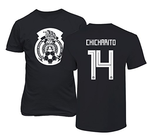 65164443a Tcamp Mexico 2018 National Soccer  14 Javier CHICHARITO World Championship Boys  Girls Youth T-Shirt (Black