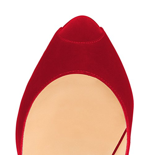 MONICOCO chaussures Rot femme compensées Samt wzqZAv