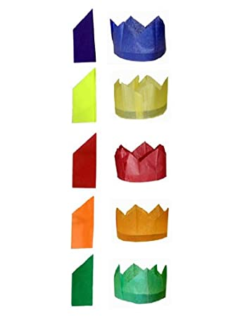 100 x CHRISTMAS CRACKER PARTY PAPER HATS - CRACKERS HAT: Amazon.co ...
