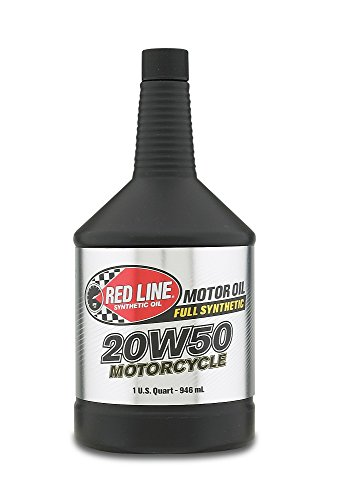 Red Line RED42504 20W-50 Motorcycle Oil - 1 Quart Bottle -