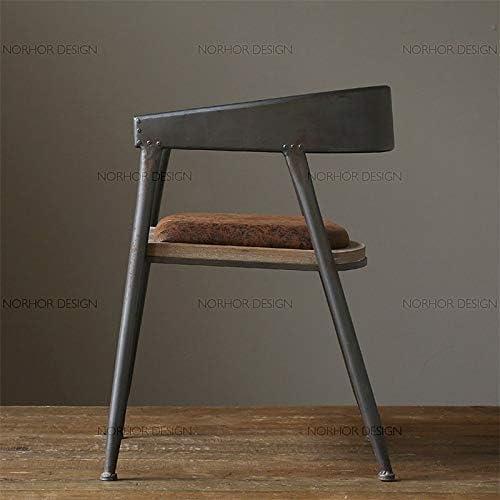 HBJP Chaise Country américain Vieux dinette rétro en Fer forgé canapé Chaise café Chaise Longue