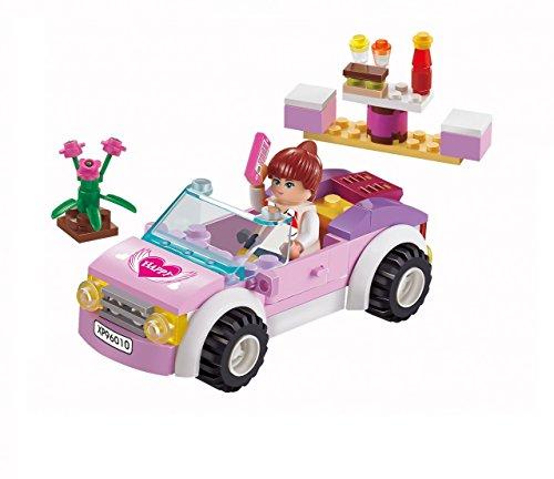 Girls Dream Building Blocks Pink Car set 88pc Includes Action...