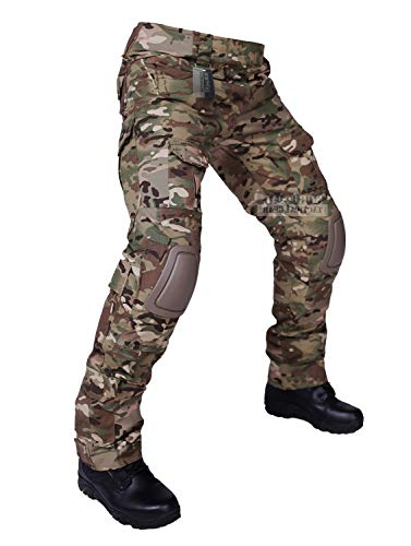 Uniform Trouser (ZAPT Tactical Pants with Knee Pads Airsoft Camping Hiking Hunting BDU Ripstop Combat Pants 13 Kinds Army Camo Uniform Military Trousers (CP, XXL40))