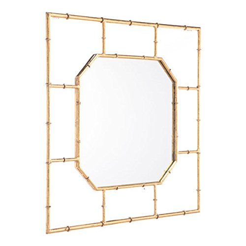 Zuo Bamboo Square Mirror, Gold (Wall Mirror Bamboo)