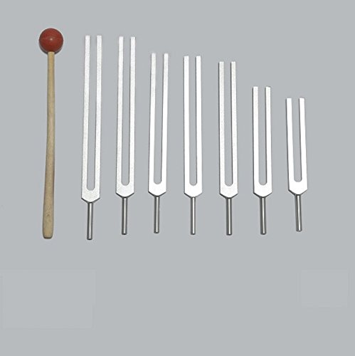 7 Chakra Tuning Forks for Healing+pouch+mallet+free Shipping