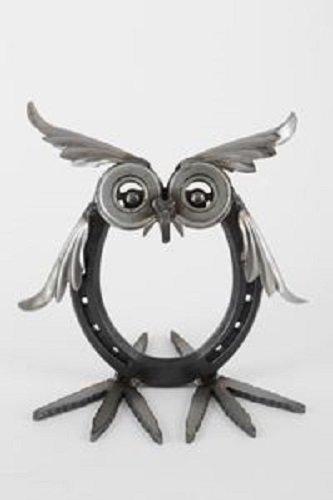 Yardbirds Horse - Yardbirds Junkyard Metal Animal Lucky Horseshoe Owl B126