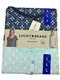 Lucky Brand Ladies' 2 Pack Sleep Shirts, Variety (L, Blue/Aqua)