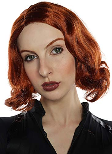 Costumes For Redheads (Avenging Assassin Wig Costume for Women Cosplay Red Wigs Girls Kids Auburn Ginger)