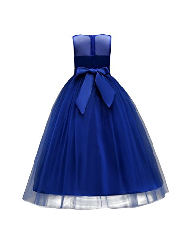 aibeiboutique Flower Girl Dresses Pageant Princess Bridesmaid Dress for Wedding First Communion (7-8 Years, Royal Blue) by aibeiboutique (Image #1)