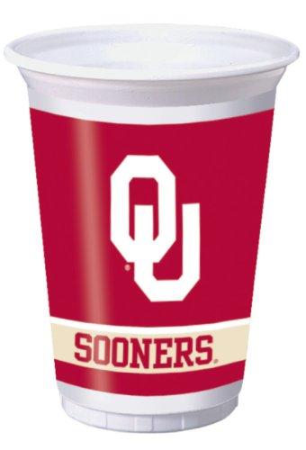 - Oklahoma Sooners 20 oz. Plastic Cups, 8-Count