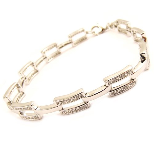 Les Trésors De Lily [L4589] - Bracelet Argent 'Déesse' blanc