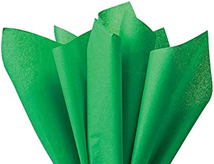 100 Sheets-Flexicore Holiday Green Wrap Tissue Paper 15 Inch X 20 Inch