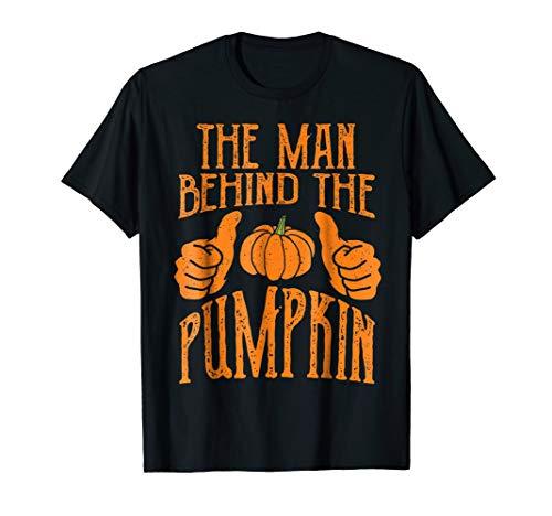 Halloween Funny Dad His Guy Man Behind The Pumpkin T-Shirt