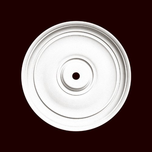 Chemcrest Smooth 18 Inch Diameter Ceiling Medallion Primed White Polyurethane Item # ()