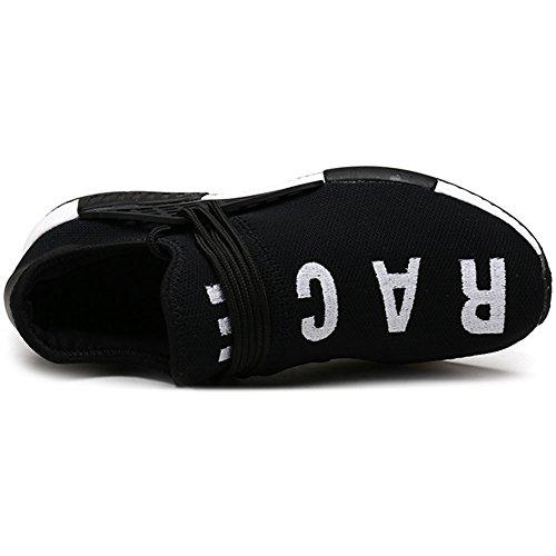 Banda Nero Lacci Scarpe Senza delle Elastica 39 Uomo Sportive 47 Casual Sneaker wealsex Scarpe Scarpe WqFw416zY