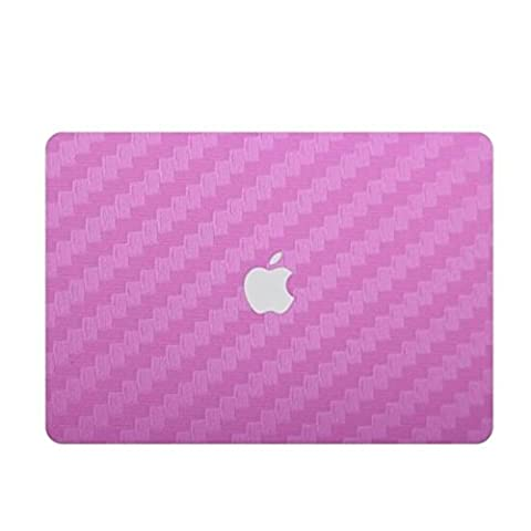 Zwish Pink Carbon Fiber Removable 6 in 1 Ultra Thin Full Body Vinyl Art Skins Decal Sticker for Macbook Pro 13.3inch Set w/ Screen Film,Protective Skin for (Ghost Busters 12 Inch)