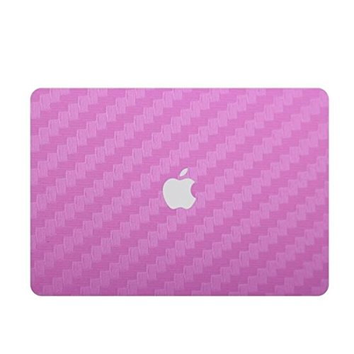 Price comparison product image Zwish Pink Carbon Fiber Removable 6 in 1 Ultra Thin Full Body Vinyl Art Skins Decal Sticker for Macbook Pro 13.3inch Set w/ Screen Film,Protective Skin for Keyboard,Palmrest,Trackpad,Upper&Bottom