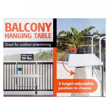 Kole Imports OS988-1 20 x 15.5 in. All-Purpose Balcony Hanging Table - Pack  of 1