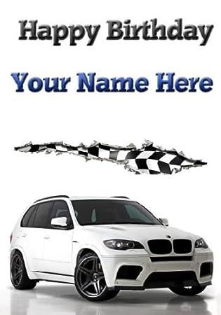 A5 Personalised Bmw X5 Car Happy Birthday Card Refpid125 Amazon