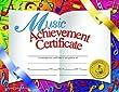 * CERTIFICATES MUSIC 30/PK 8.5 X 11