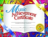 14 Pack HAYES SCHOOL PUBLISHING CERTIFICATES MUSIC 30/PK 8.5 X 11