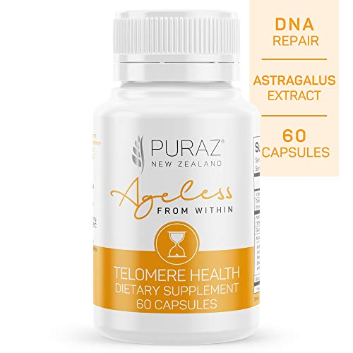 411%2BSTMPO1L - Puraz Telomere Supplements with Potent Astragalus Root Extract for Superior Immune System Support, Anti-Aging and DNA Repair - Pure Telomerase Enzyme for Telomere Lengthening and Support - 60 Capsules