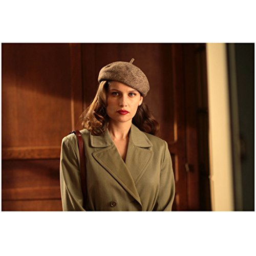 Celebrity Beret - War of the Buttons (2011) 8 Inch x10 Inch Photo Laetitia Casta Green Coat Brown Beret kn
