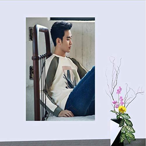 yhnjikl Kim Soo Hyun Tela Tela de Seda Cartel Decoración del ...