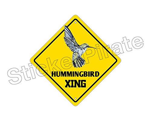 Hummingbird Crossing Funny Metal Novelty Sign Aluminum Crossing Aluminum Sign