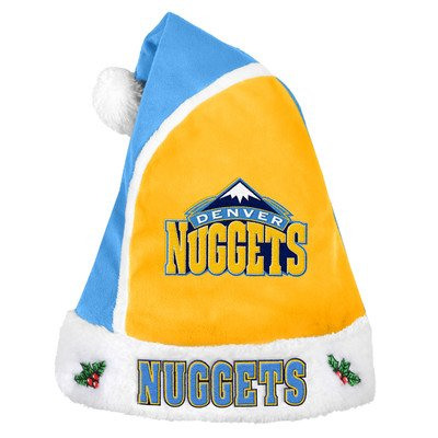 NBA Denver Nuggets Santa Hat, One Size, Blue by Forever Collectibles
