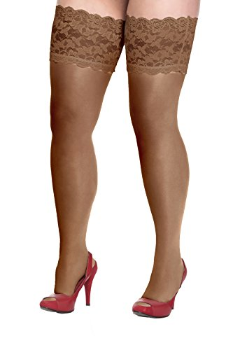 5c5c67a633f Plus Size Lace Stay Up Thigh High Stockings 1xl-5xl (various colours)