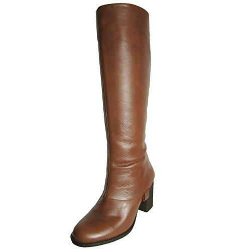Steven Womens 'P-Wonder' Boot Shoe, Cognac Leather, US -