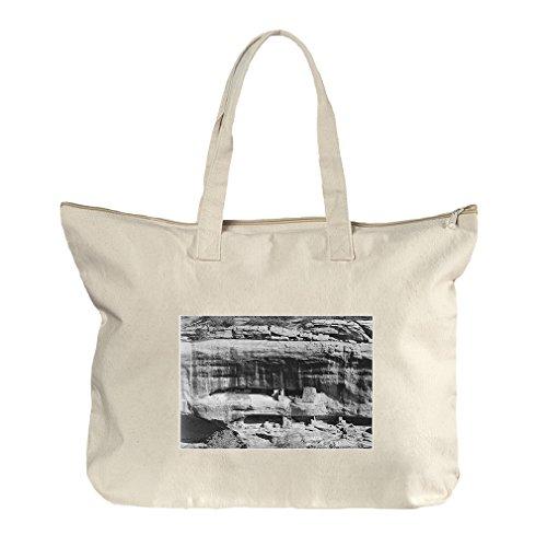 Mesa Verde National Park #2 (Adams) Canvas Beach Zipper Tote Bag - Center Shopping Mesa La