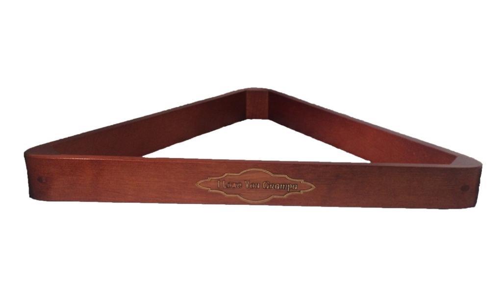 I Love You Grampa Customized Wood Inlayed Brunswick Big Break 8 Ball Rack by D&L Billiards
