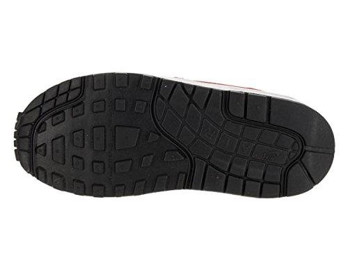Nike Kids Air Max 1 (ps) Scarpa Da Corsa Nero / Bianco / Grigio Freddo / Rosso Palestra