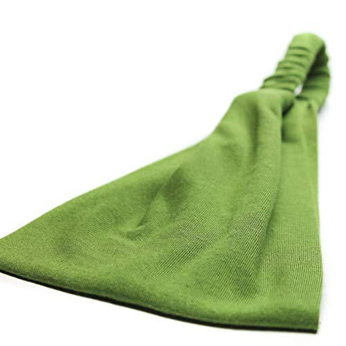 Green Headband Wide Jersey Knit 5 Inches 4 Sizes]()