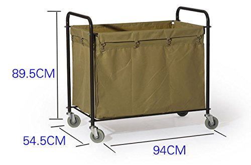 Commercial Laundry Cart, H 37.6'' x W 21.8'' x L 35.8'' by Farag Janitorial (Image #7)