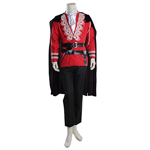 CosplayDiy Men's Suit for Once Upon A Time Prince David Nolan Cosplay cm ()