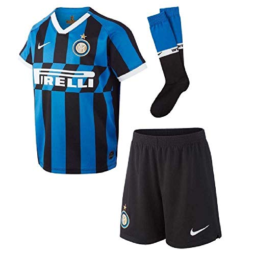 Nike 2019-2020 Inter Milan Home Little Boys Mini Kit (Junior Football Kits)