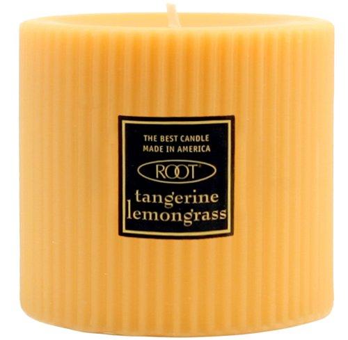 Orange Vanilla Pillar - Root Scented Grecian Pillar Candle, 3-Inch by 3-Inch Tall, Tangerine Lemongrass