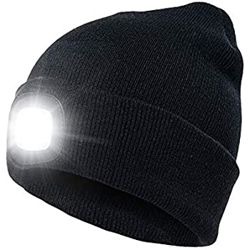 3-Pack Bulk LED Knit Beanie Stocking Caps Camping Light Flashlight - incl 6dd38a0f210