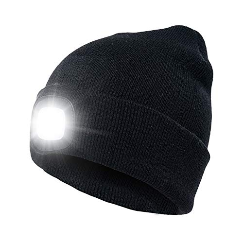 3-Pack Bulk LED Knit Beanie Stocking Caps/Camping Light/Flashlight - incl batteries - Perfect for skiing, running, hiking, camping, or around the house