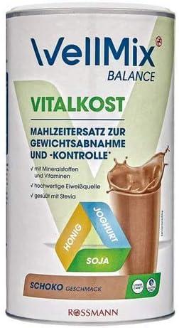 Mahlzeitersatz zur Gewichtsabnahme - Balance Shake - Vitalkost - Geschmack Schoko - 500 g