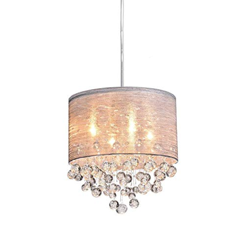 CLAXY Ecopower Lighting Metal Crystal Pendant Lighting Modern Chandelier for Kitchen