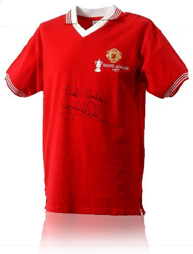 Gordon Hill Hand Signed 1977 FA Cup Final Shirt (LOT629)